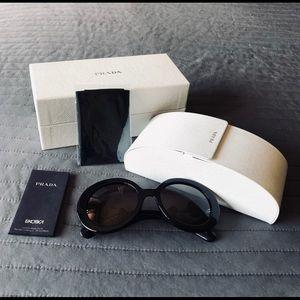 Prada Minimal-Baroque Black Sunglasses